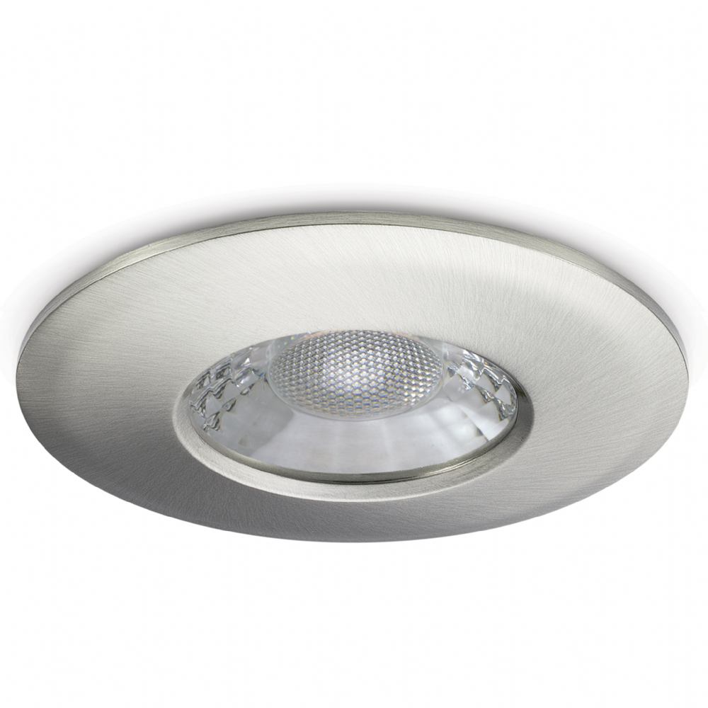 JCC Lighting JC1001/BN Fixed Fire-Rated Downlight 7.5W Dimmable 3000/4000K 600/650lm